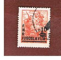 JUGOSLAVIA (YUGOSLAVIA)   - SG 618  -    1949 FIGHTING PARTISAN OVEPRINTED -   USED - Usati