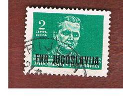 JUGOSLAVIA (YUGOSLAVIA)   - SG 623  -    1950 MARSHAL TITO OVEPRINTED -   USED - Usati