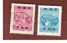 JUGOSLAVIA (YUGOSLAVIA)   - SG 624.626  -    1949  CITY VIEW OF JAJCE OVERPRINTED  -   USED - Usati