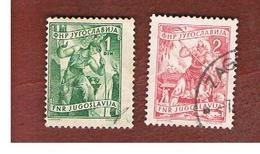 JUGOSLAVIA (YUGOSLAVIA)   - SG 653.654  -    1950  CRAFTS   -   USED - 1945-1992 Repubblica Socialista Federale Di Jugoslavia