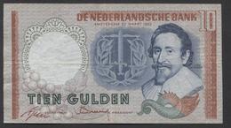 Netherlands 10 Gulden, 23-3-1953   Replacement  EEY 101717 - See The 2 Scans For Condition.(Originalscan ) - [2] 1815-… : Koninkrijk Der Verenigde Nederlanden