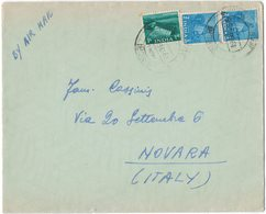 IN98  India 1956 Cover Air Mail To Italy - 1950-59 Repubblica