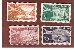 JUGOSLAVIA (YUGOSLAVIA)   - SG 675.682  -    1951   AIRPLANE OVER LANDSCAPES -   USED - Usati