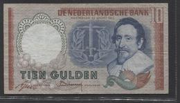 Netherlands 10 Gulden, 23-3-1953   Replacement  BMB 100096 - See The 2 Scans For Condition.(Originalscan ) - [2] 1815-… : Koninkrijk Der Verenigde Nederlanden