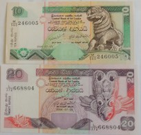 Lot De 2 Billets Du  Sri Lanka 10 Et 20 Roupies 2006 Pick 115 ET 116 Neuf/UNC - Sri Lanka