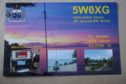 Western Samoa Islands, South Pacific, Polynesia, Oceania  - Old QSL Postcard - Samoa