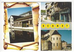 C 1310/27 - BERNAY (Eure).- Vues Diverses D'anciennes Maisons à Colombages. Le Chevet De L'ancienne Abbatiale. - Bernay