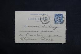 FRANCE - Carte Lettre De Paris Pour Château Thierry En 1900- L 29033 - Postal Stamped Stationery