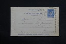FRANCE - Carte Lettre De Libourne Pour Saint Chamond En 1899 - L 29034 - Postal Stamped Stationery