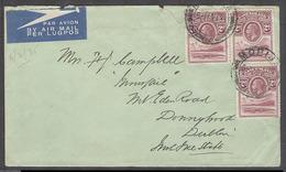 BC - Basutoland. 1935 (6 Feb). Morija - Eire, Dublin. Air Multifkd Env Dest. 6d Rate. Fine. - Unclassified