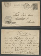 INDOCHINA. 1902 (23 April). Saigon - Germany, Merseburg (27 May) 10c Black Stat Card General Colonies Type. Fine Used. - Stamps