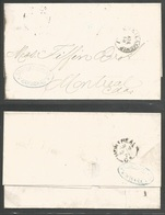 CUBA. 1871 (6 April). Cardenas - Canada, Montreal (14 April). EL Fwded At Havana By Niese, Fuente & Cº Blue Oval Cachet. - Non Classés