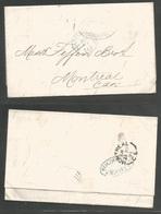 CUBA. 1871 (20 April). Cardenas - Canada, Montreal (28 April). EL Fwded At Havana By Blue Oval Cach. Niese, Fuente & Cº. - Non Classés
