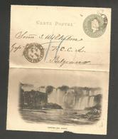 Argentina - Stationery. C.1904 (5 Aug). BA Local 4c Bluish Cream Stat Cascada Iguazu View Lettersheet Card. Displays Wel - Argentina