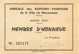 Amicale Des Sapeurs Pompiers De Montauban...1979.... - Firemen