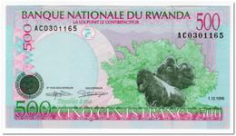 RWANDA,500 FRANCS,1998,P.26,UNC - Ruanda