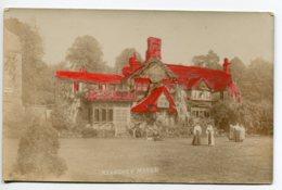 "ANGLETERRE  Rare CARTE PHOTO Kearsney Manor Animation Jardin Photog "" Charles Starvis Dover 77 London Rd ""   D06 2019 - Dover"