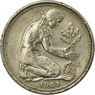 Monnaie, République Fédérale Allemande, 50 Pfennig, 1981, Stuttgart, TTB - [ 6] 1949-1990 : GDR - German Dem. Rep.