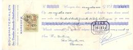 Wissel - Reçu - Bouwmaterialen Jos Vanden Broucke - Detollenaere - Waregem 1957 - Lettres De Change