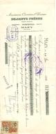 Wissel - Reçu - Marbres Onyx - Carrières & Usines Dejaiffe Frères - Mazy - 1952 - Lettres De Change