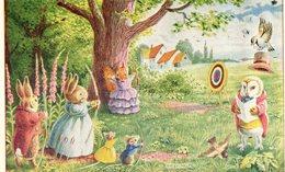 Lapins....tir A L Arc   Carte Anglaise - Animales