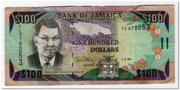 JAMAICA,100 DOLLARS,1994,P.76a,FINE - Jamaica
