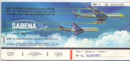 Biljet Billet Ticket - Vliegtuig Avion - Sabena - Las Palmas  Madrid - Brussel -Tenerife - 1964 - Europa