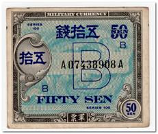 JAPAN,MILITARY CURRENCY,50  SEN,1945,P.65,XF - Japan