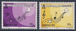 Gibraltar 1985 Mi 487 /8 YT 495 /6 SG 516 /7 ** Musical Symbols, Score Beethoven's 9th Symphony / Bass - + Violinstimme - Gibraltar