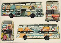 D-10.. Berlin - BVG - Pop Bus Der Innung Heizungs- Und Klima-Technik Berlin - April 1974 - Mitte