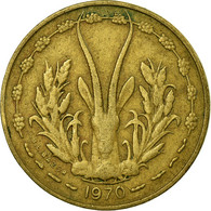 Monnaie, West African States, 5 Francs, 1970, Paris, TB+ - Ivory Coast