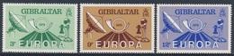 Gibraltar 1979 Mi 392 /4 YT 393 /5 SG 420 /27 ** Dish Antenna, Early Telephone / Antenne Erdfunkstelle, Fernsprecher - Gibraltar