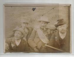 Photographie 74 Chamonix ? Oisans 05 -38 ? Guide Alpinistes Piolet D'alpiniste Montagne Alpes   Photo 18x13 Cm Env - Anciennes (Av. 1900)