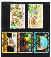 SRO468 UNO GENF 1994 MICHL 254/58 Gestempelt Siehe ABBILDUNG - Genf - Büro Der Vereinten Nationen