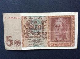 BILLET ALLEMAGNE  Monnaie Des Camps  *5 Reichsmark  1942 - [ 4] 1933-1945 : Troisième Reich