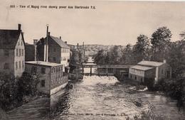 Sherbrooke Québec - Magog River & Power Dam Barrage Pont Bridge Rivière - Pinsonneault Frères - 2 Scans - Sherbrooke