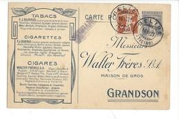 22035 - Grandson Tabacs Cigarettes Burrus Cigares Walter De Melide 1921 - BE Bern