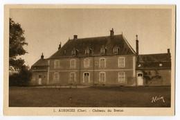 CPA 18 AUBINGES Chateau Du Breton - France