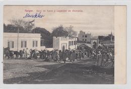 Tanger Soco De Fuera Y Legacion De Alemania Old Postcard Travelled 190? To Cilli B190501 - Tanger