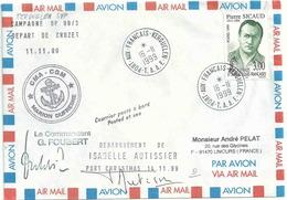 YT 238 - Pierre Sicaud - Gouverneur De La France D'Outre-mer - Lettre Postée à Bord Du Marion Dufresne - Kerguelen - French Southern And Antarctic Territories (TAAF)
