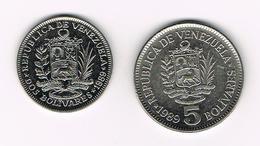 )  VENEZUELA  2 En 5  BOLIVARES  1989 - Venezuela