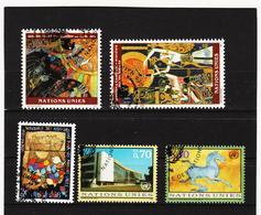 SRO470 UNO GENF 1995/96 MICHL 271/72 + 285/87 Gestempelt Siehe ABBILDUNG - Genf - Büro Der Vereinten Nationen