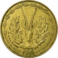 Monnaie, West African States, 5 Francs, 1971, Paris, TTB - Côte-d'Ivoire