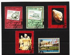 SRO472 UNO GENF 1997/98  MICHL 319/22 + 329 Gestempelt Siehe ABBILDUNG - Genf - Büro Der Vereinten Nationen