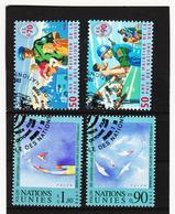 SRO473 UNO GENF 1998  MICHL 348/51 Gestempelt Siehe ABBILDUNG - Genf - Büro Der Vereinten Nationen