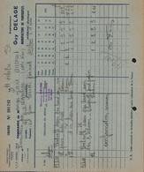 BON DE COMMANDE DELAGE GUY - MANUFACTURE DE PANTOUFLES - JAVERLHAC - DORDOGNE - AUCOURT - SAULIEU - 11 OCTOBRE 1952 - 1950 - ...