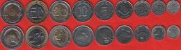 Algeria Set Of 9 Coins: 1/4 - 100 Dinars 1992-2018 XF-UNC - Algeria