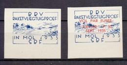 E 10/11ND RAKETVLIEGTUIGPROEF MOL  POSTFRIS** 1935 ONGETAND - Commemorative Labels