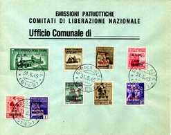 "CLN BUSTA FILATELICA ""C.L.N. ALTO VARESOTTO"" - 4. 1944-45 Sozialrepublik"