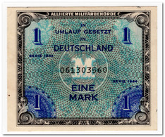 GERMANY,MILITARY PAYMENT,1 MARK,1944,P.192b,AU-UNC - [ 5] 1945-1949 : Allies Occupation